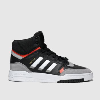 Adidas Black & Grey Drop Step Boys Youth