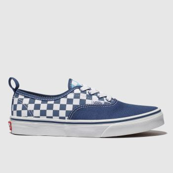 Vans Navy & White AUTHENTIC ELASTIC BLUE Boys Youth