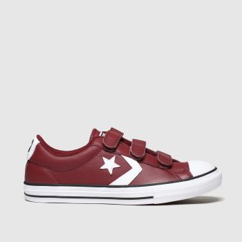 Converse Burgundy Star Player 3v Mars Boys Youth
