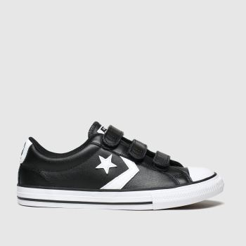 Converse Black & White Star Player 3v Mars Boys Youth