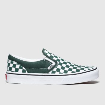 Vans Dark Green Classic Slip-On Boys Youth