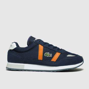 Lacoste Navy & Orange Partner Boys Youth