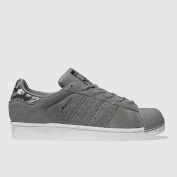 ADIDAS GREY SUPERSTAR TRAINERS YOUTH