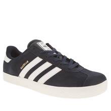 Adidas Navy & White Gazelle 2 Boys Youth
