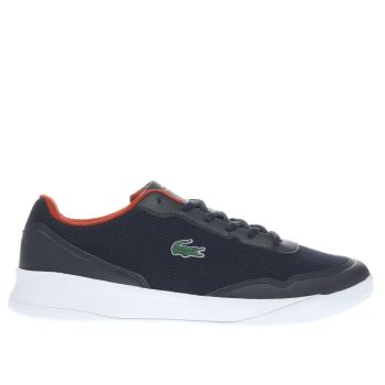 LACOSTE NAVY & RED LT SPIRIT BOYS YOUTH TRAINERS