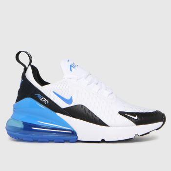 Nike White & Blue Air Max 270 Boys Youth