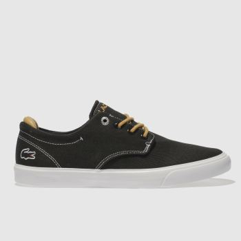LACOSTE BLACK ESPARRE TRAINERS YOUTH