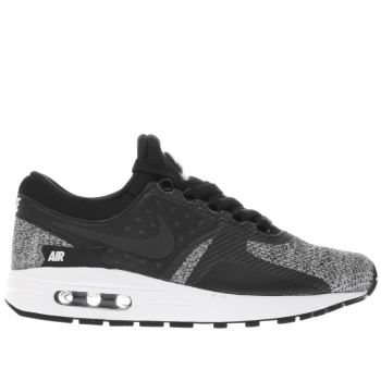 NIKE BLACK & WHITE AIR MAX ZERO BOYS YOUTH TRAINERS