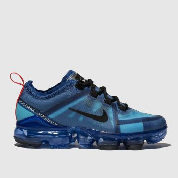 b551e69dadb27 Boys blue nike air vapormax 2019 trainers