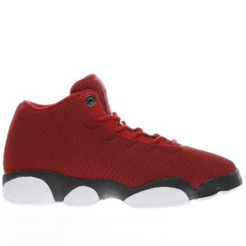 NIKE JORDAN  RED JORDAN HORIZON LOW BOYS YOUTH TRAINERS