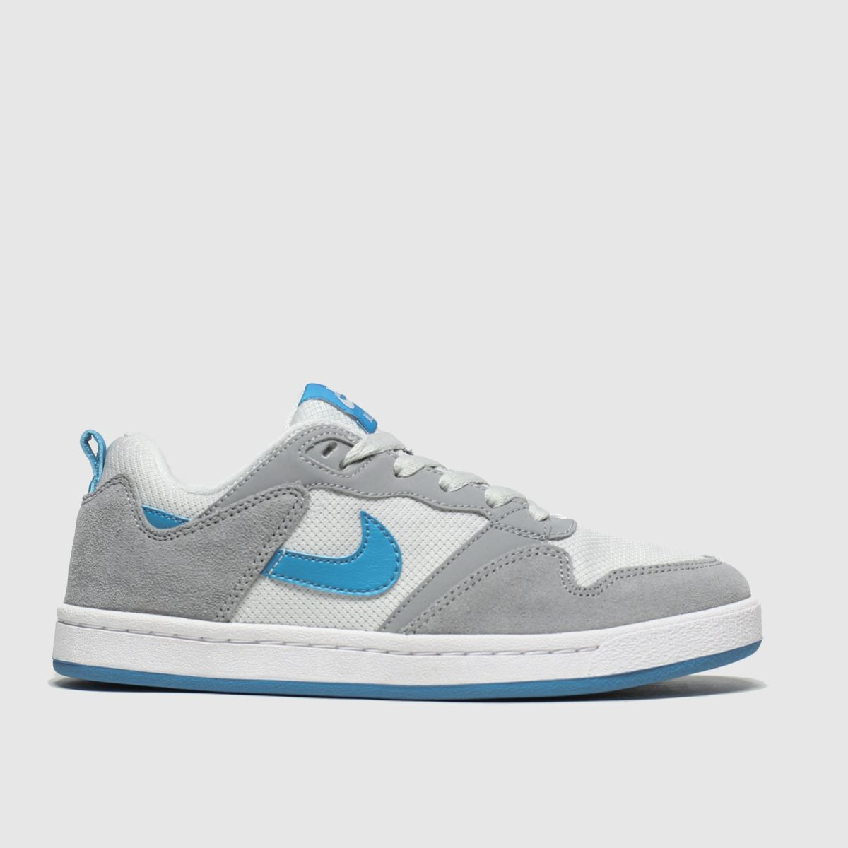 Nike Sb White & Grey Alleyoop Trainers Youth