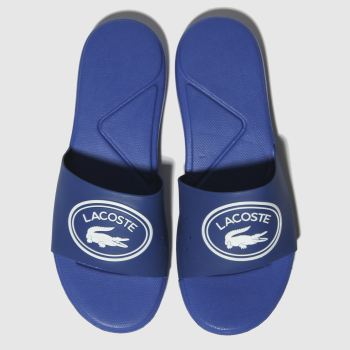 Lacoste Blue L.30 Slide Boys Youth