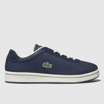 lacoste navy masters trainers youth