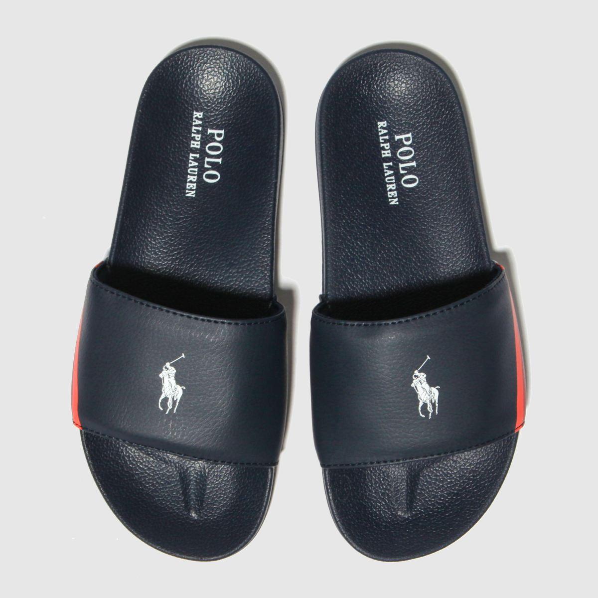 Polo Ralph Lauren Navy & Red Fletcher Slide Sandals Youth