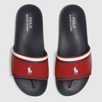 Polo Ralph Lauren Navy Quilton Slide Boys Youth