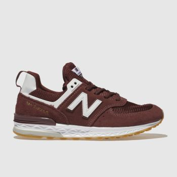 New Balance Burgundy 574 Sport Boys Youth