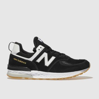 New Balance Black & White 574 Sport Boys Youth