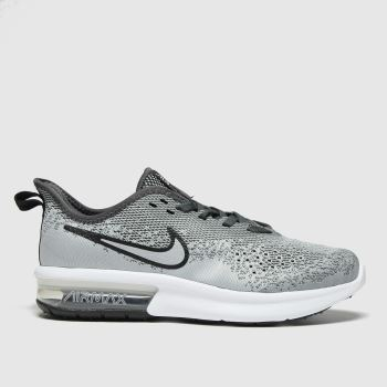 Nike Light Grey Air Max Sequent 4 Boys Youth#