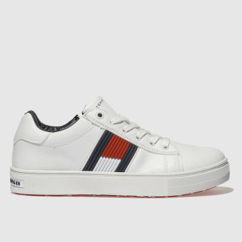 Tommy Hilfiger White & Navy The Essential Lace Up Boys Youth
