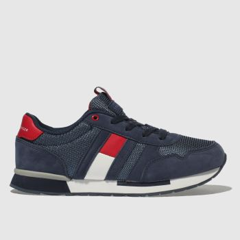 Tommy Hilfiger Navy & Red Classic Lace-Up Sneaker Boys Youth