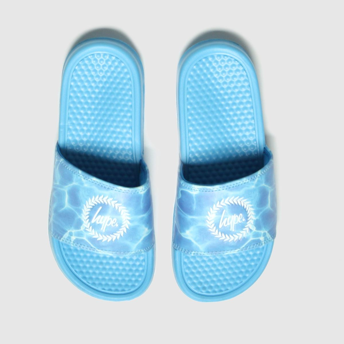 Hype Blue Pool Crest Sliders Trainers Youth