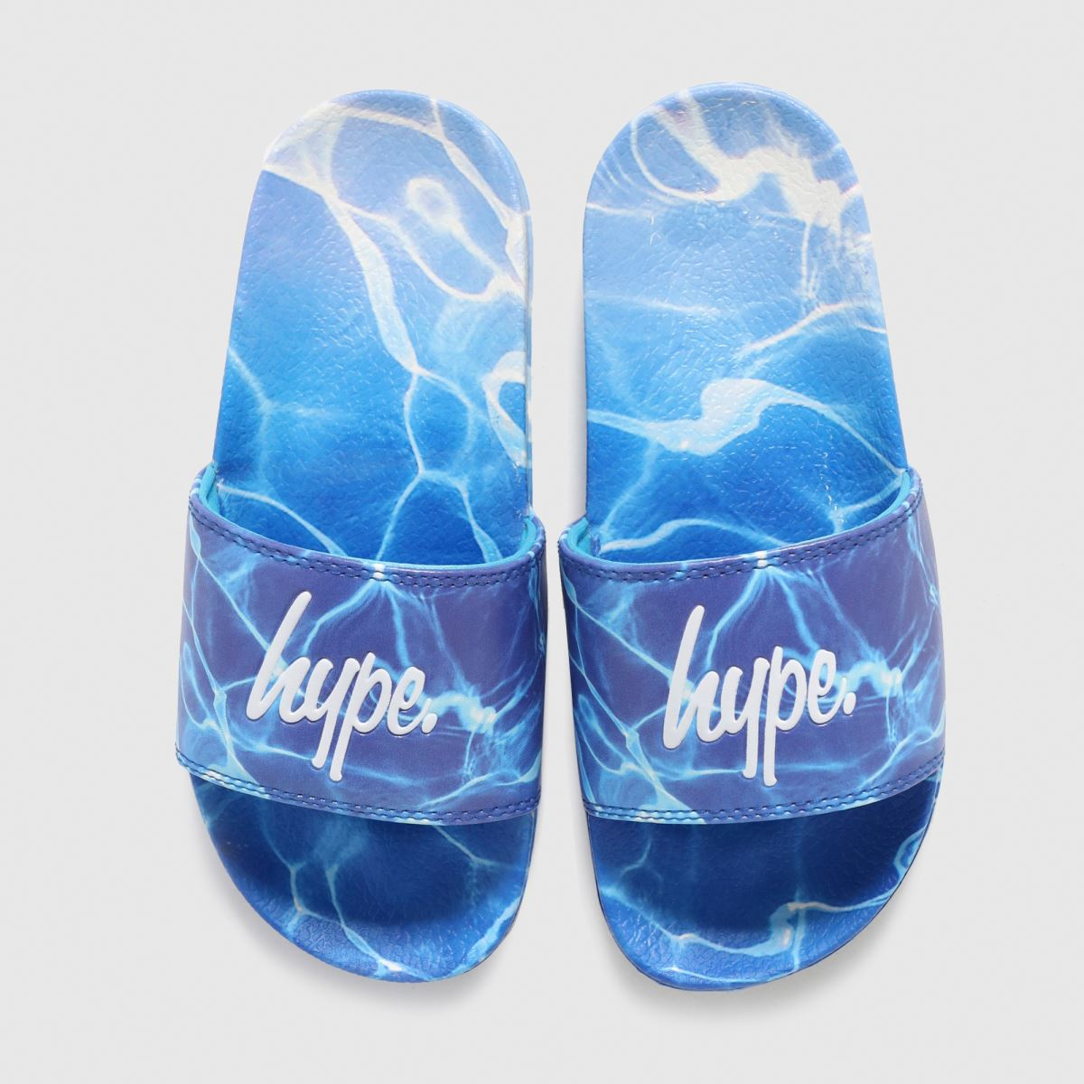 Hype Turquoise Pool Fade Sliders Youth