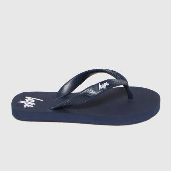 Hype Navy Flip Flops Boys Youth