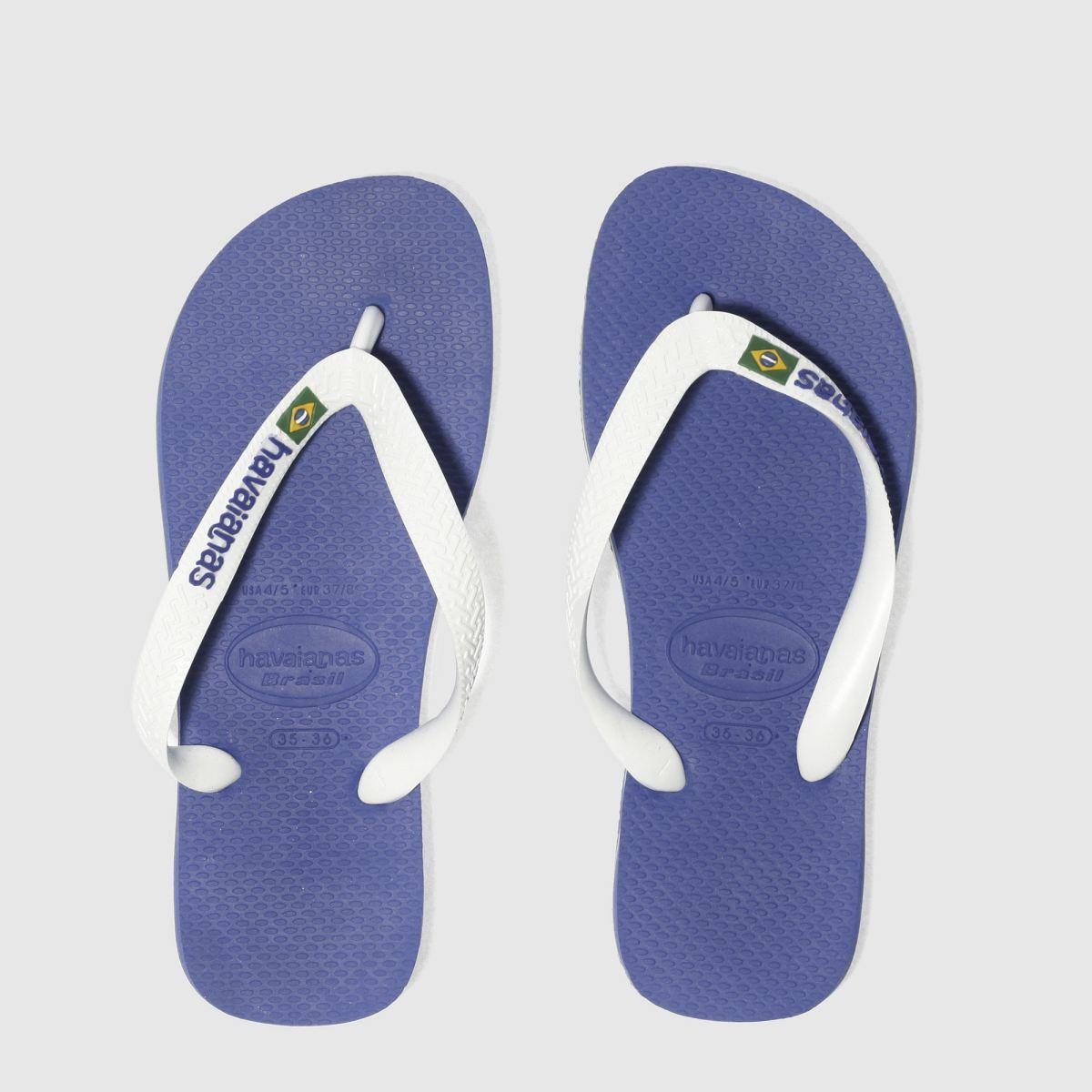 Havaianas Blue Brasil Logo Sandals Youth