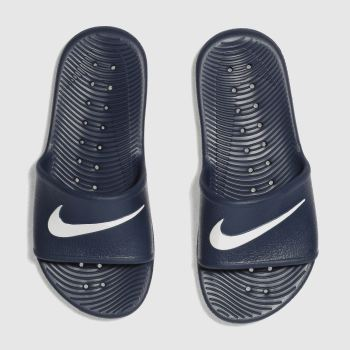 Nike Navy Kawa Shower Slide Boys Youth