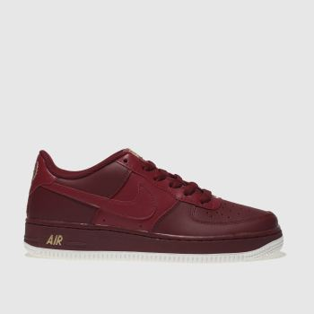 Nike Red Air Force 1 Boys Youth
