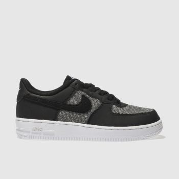 Nike Black & Grey AIR FORCE 1 Boys Youth