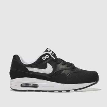 Nike Black & White AIR MAX 1 Boys Youth