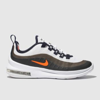 Nike White & Orange Air Max Axis Boys Youth