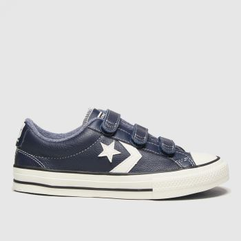Converse Navy & White Star Player 3v Lo Mc Boys Youth#