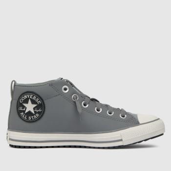 Converse Light Grey Street Boot Boys Youth
