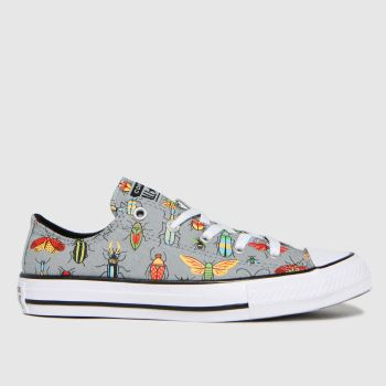 Converse Grey Lo Bugged Out Boys Youth