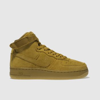 Nike Tan Air Force 1 High Lv8 Boys Youth
