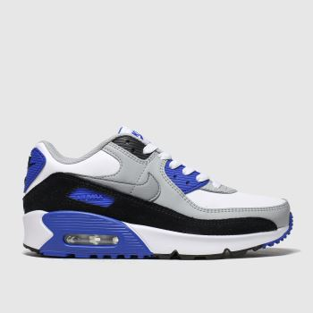 Nike White & grey Air Max 90 Ltr c2namevalue::Boys Youth#promobundlepennant::£5 OFF BAGS