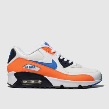 Nike White & Orange Air Max 90 Boys Youth