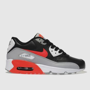 98253412109 Boys black   red nike air max 90 trainers