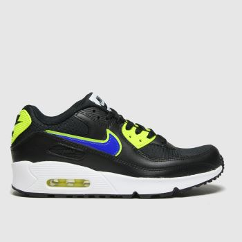 Nike Black & Green Air Max 90 Mesh Boys Youth