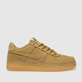 outlet store c6137 1e21a Nike Tan Air Force 1 Winter Premium Boys Youth