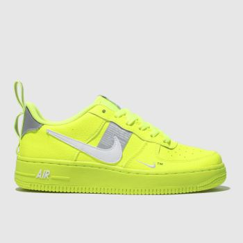 promo code f27ac 8e723 NIKE LIME AIR FORCE 1 LV8 UTILITY TRAINERS YOUTH