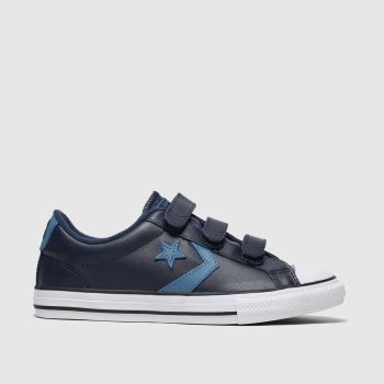 Converse Navy & Pl Blue Star Player 3V Lo Boys Youth