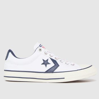 Converse White & Navy Star Player Ev Lo Boys Youth