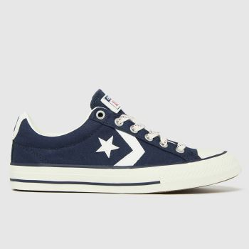 Converse Navy & White Star Player Ev Lo Boys Youth