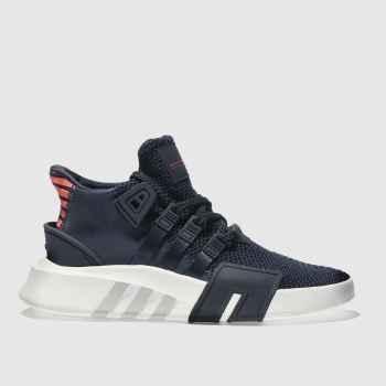 ADIDAS NAVY EQT BASK ADV BOYS YOUTH TRAINERS