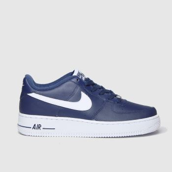 Nike Navy & White Air Force 1 Boys Youth#