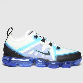 Nike White & Pl Blue Air Vapormax 2019 Boys Youth