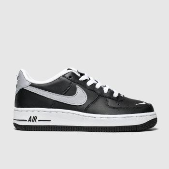 Nike Black & Grey Air Force 1 Lv8 Boys Youth